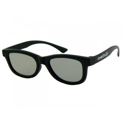 3D okuliare čierne matné
