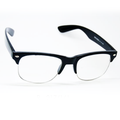 Retro okuliare Waymaster čierne číre
