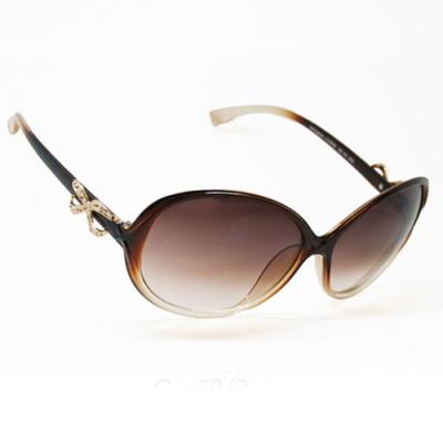 Dámske slnečné okuliare Lincoln hnedé - biele