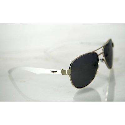 Slnečné okuliare pilotky FLY strieborné