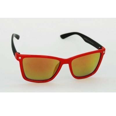 Dámske slnečné okuliare Elegante červeno- čierne zrkadlové