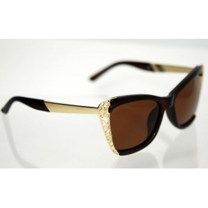 Dámske polarizačné okuliare Butterfly Brown&Gold