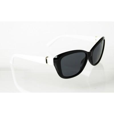 Dámske polarizačné okuliare Square Gold BLACK&WHITE