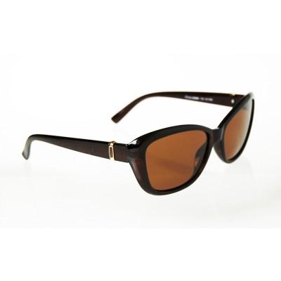 Dámske polarizačné okuliare Square Gold BROWN