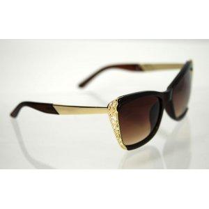 Dámske slnečné okuliare Butterfly Brown&Gold