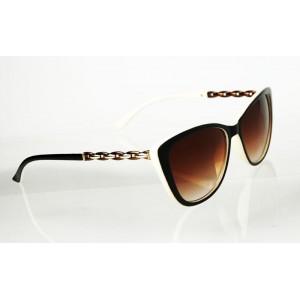 Dámske slnečné okuliare Chain BROWN&WHTE