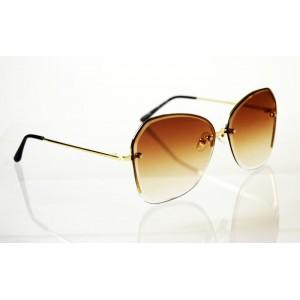 Dámske slnečné okuliare Crystal Glas brown GOLD