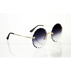 Dámske slnečné okuliare Flower Crystal gold BLACK&PINK