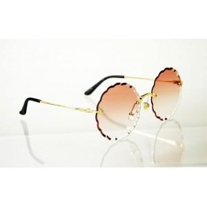 Dámske slnečné okuliare Flower Crystal gold BROWN