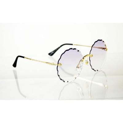 Dámske slnečné okuliare Flower Crystal gold PURPLE