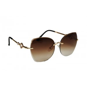 Dámske slnečné okuliare Flower Diamonds Gold BROWN