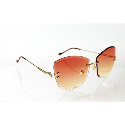 Dámske slnečné okuliare Glass Diamond GOLD&PINK