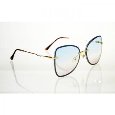 Dámske slnečné okuliare Glass Glitter BLUE