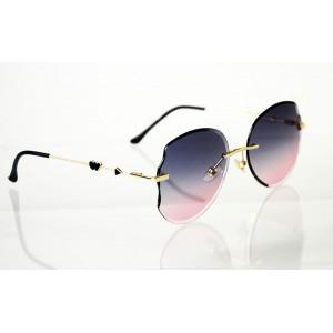 Dámske slnečné okuliare Heart Crystal gold BLUE&PINK