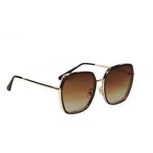 Dámske slnečné okuliare Luxury Gold Pink BROWN