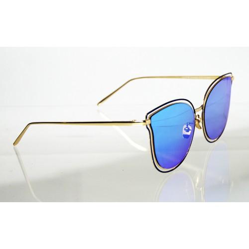 a073b03fd Dámske slnečné okuliare NOEMI LUXURY GOLD&BLUE