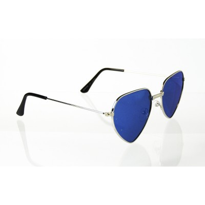 Dámske slnečné okuliare pilotky Hearts BLUE