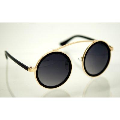 Dámske slnečné okuliare Round bridge gold BLACK