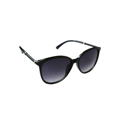 Dámske slnečné okuliare Round Grid BLACK