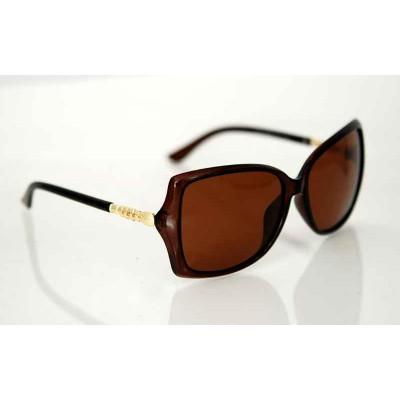 Dámske slnečné polarizačné okuliare Diamond Line BROWN
