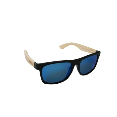 Drevené polarizačné slnečné okuliare Wayfarer Modern BLUE