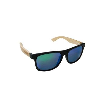 Drevené polarizačné slnečné okuliare Wayfarer Modern GREEN