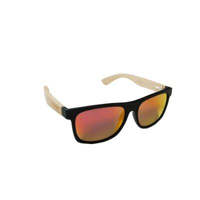 Drevené polarizačné slnečné okuliare Wayfarer Modern ORANGE