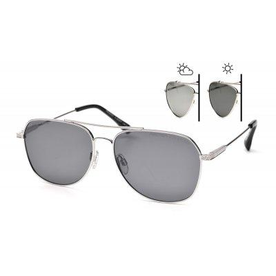 Fotochromatické okuliare pilotky Vintage Silver
