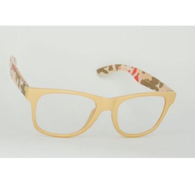 Číre okuliare Wayfarer - svetlo hnedé - maskačové