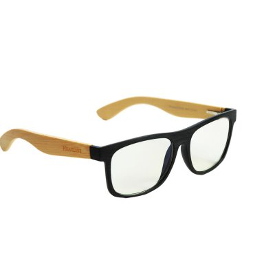 Okuliare na počítač Blue Light drevené Wayfarer Modern Black Wood