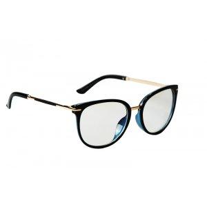 Okuliare na počítač Blue Light Gold Line BLACK blue