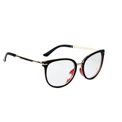 Okuliare na počítač Blue Light Gold Line BLACK red