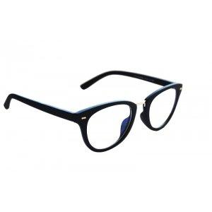 Okuliare na počítač Blue Light Modern Woman Wayfarer BLACK