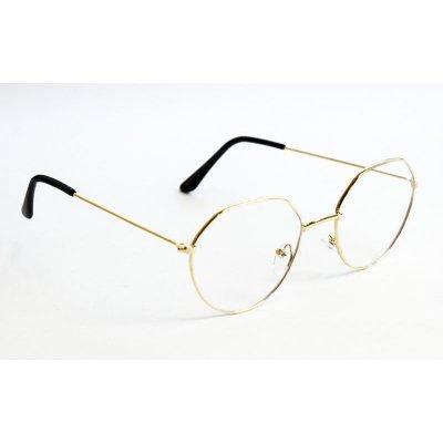Okuliare na počítač Blue Light Square Pilot GOLD