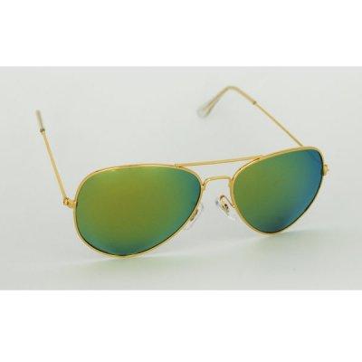 Polarizačné okuliare California zlaté zrkadlové
