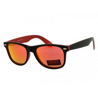 Polarizačné slnečné okuliare Wayfarer Black&Red