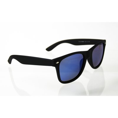 Polarizačné okuliare Wayfarer čierne matné blue