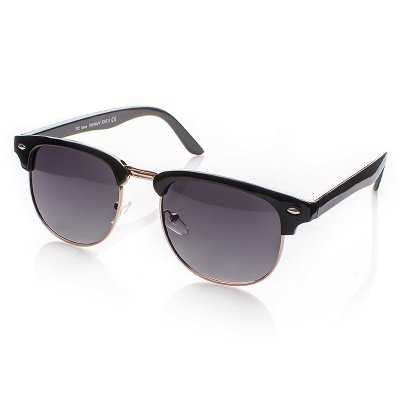 Polarizačné okuliare Clubmaster čierne Classic