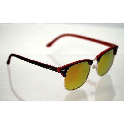Polarizačné okuliare Clubmaster color red