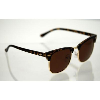 Polarizačné okuliare Clubmaster Tiger BROWN&GOLD