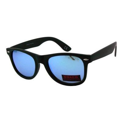Polarizačné okuliare Wayfarer black LIGHT BLUE