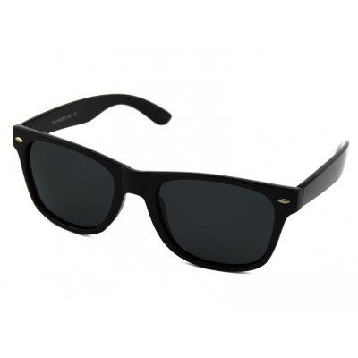Polarizačné okuliare Wayfarer čierne lesklé
