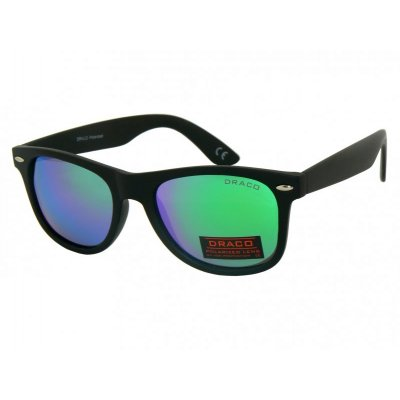 Polarizačné okuliare Wayfarer čierne matné BLUE&GREEN