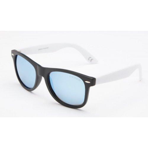 20120c910 Polarizačné slnečné okuliare Wayfarer MERKUR Black&White LIGHT BLUE