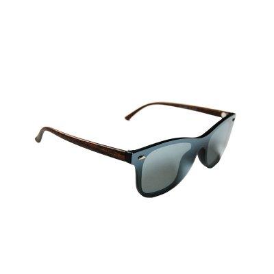 Polarizačné slnečné okuliare Wayfarer Modern Wood Black Silver
