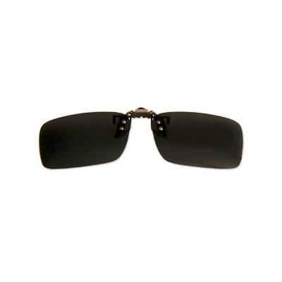 Polarizačný klip na okuliare - čierny - 3,7 cm x 13,1 cm