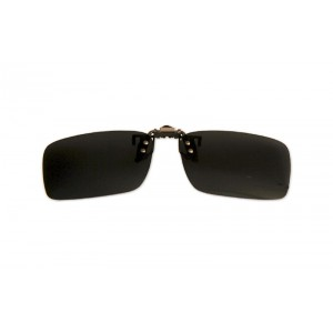 Polarizačný klip na okuliare - čierny - 4,0 cm x 13,5 cm