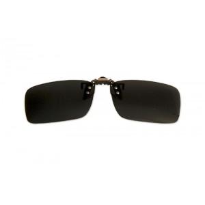 Polarizačný klip na okuliare - čierny - 4,2 cm x 13,8 cm