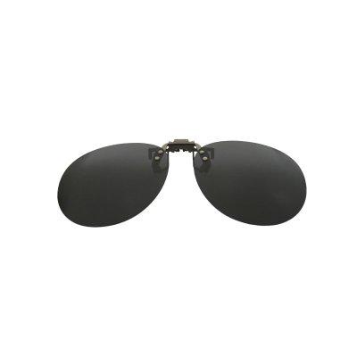 Polarizačný klip na okuliare - čierny - 5,3 cm x 13,6 cm