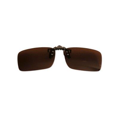 Polarizačný klip na okuliare - hnedý - 3,5 cm x 12,4 cm
